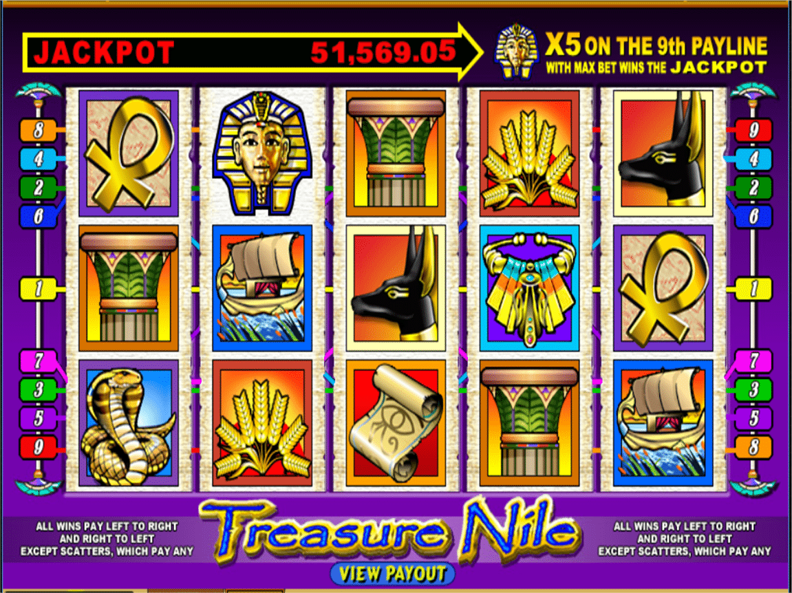 treasure nile mobile slots